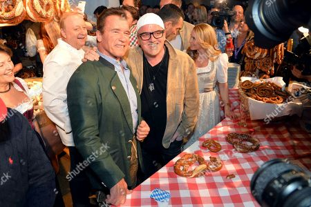 Alfons Schuhbeck, Arnold Schwarzenegger, DJ Oetzi (Gerry Friedle)