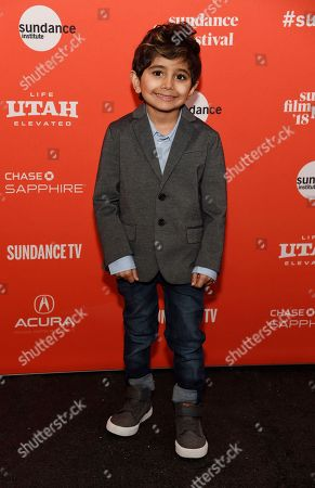 "Parker Sevak, a cast member in ""The Kindergarten Teacher,"" poses at the premiere of the film at the 2018 Sundance Film Festival, in Park City, Utah"