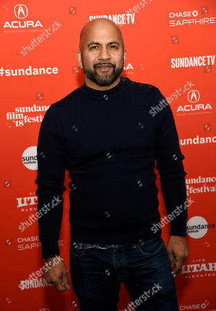"""Stock Image of Ajay Naidu, a cast member in """"The Kindergarten Teacher,"""" poses at the premiere of the film at the 2018 Sundance Film Festival, in Park City, Utah"""