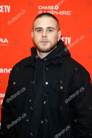 """Actor Jared Abrahamson poses at the premiere of """"American Animals"""" during the 2018 Sundance Film Festival, in Park City, Utah"""