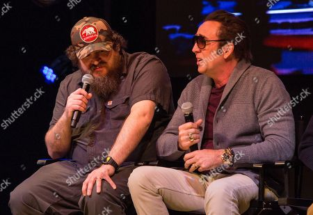 Panos Cosmatos, Nicolas Cage. Panos Cosmatos and Nicolas Cage seen at the JetSmarter Film Summit at Park City Live, in Park City, Utah