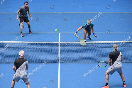 John McEnroe, Patrick McEnroe, Thomas Johansson and Mats Wilander