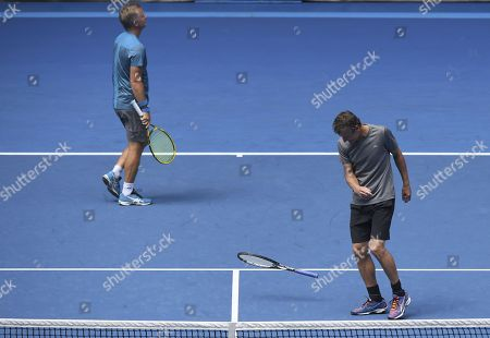 Stock Picture of Thomas Johansson and Mats Wilander