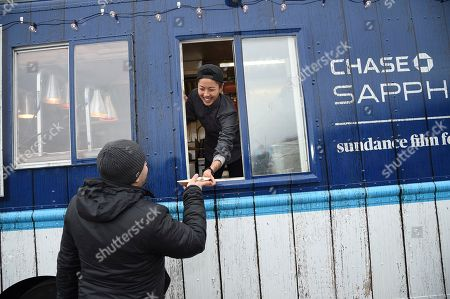 """Top Chef"""" winner Kristen Kish serves up one-of-a-kind treats at the Chase Sapphire On Location Food Truck at the Sundance Film Festival, in Park City, Utah"""