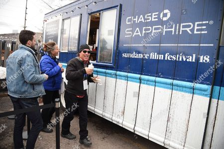 """Stock Photo of The Chase Sapphire On Location Food Truck featuring one-of-a-kind treats created by """"Top Chef"""" winner Kristen Kish at the Sundance Film Festival, in Park City, Utah"""