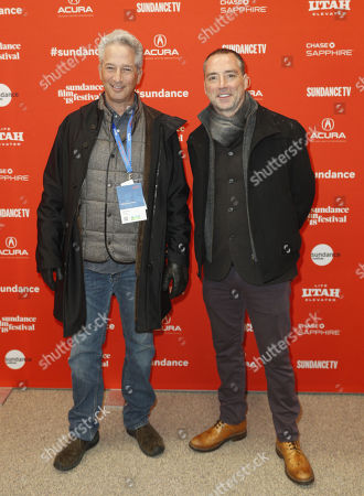Producer Jeffrey Soros (L) and Executive Producer Simon Horsman (R) arrive for the premiere of the film 'Juliet Naked' at the 2018 Sundance Film Festival in Park City, Utah, USA, 19 January 2018. The festival runs from 18 to 28 January.