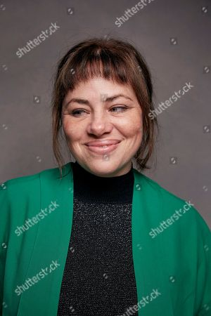 "Writer Karine Teles poses for a portrait to promote the film ""Loveling,"" at the Music Lodge during the Sundance Film Festival, in Park City, Utah"