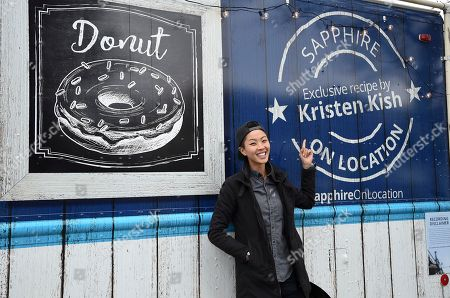 Stock Image of Top Chef winner Kristen Kish serves up one-of-a-kind treats at the Chase Sapphire On Location Food Truck at the Sundance Film Festival, in Park City, Utah