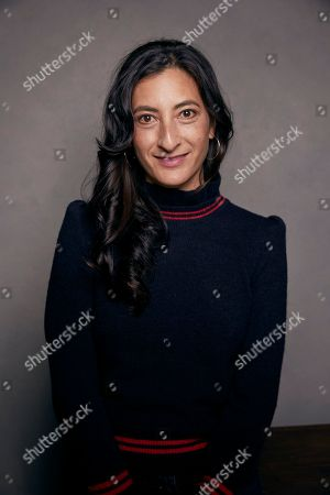 """Director Jessica Sanders poses for a portrait to promote the film """"End of the Line,"""" at the Music Lodge during the Sundance Film Festival, in Park City, Utah"""