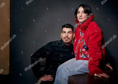 "Raul Castillo, Sheila Vand. Raul Castillo, left, and Sheila Vand pose for a portrait to promote the film ""We the Animals,"" at the Music Lodge during the Sundance Film Festival, in Park City, Utah"
