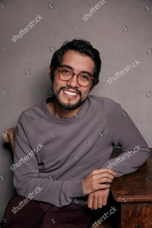 """Director Carlos Lopez Estrada poses for a portrait to promote the film, """"Blindspotting,"""" at the Music Lodge during the Sundance Film Festival, in Park City, Utah"""