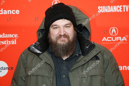 "Director Panos Cosmatos poses at the premiere of ""Mandy"" during the 2018 Sundance Film Festival, in Park City, Utah"