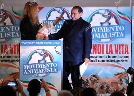 Silvio Berlusconi and Michela Vittoria Brambilla