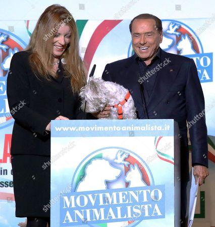 Stock Image of Silvio Berlusconi and Michela Vittoria Brambilla