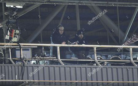 Fulham commentators Jim McGullion, left, and Jamie Reid
