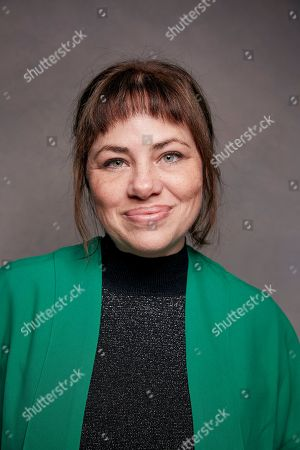 "Stock Picture of Writer Karine Teles poses for a portrait to promote the film, ""Loveling"", at the Music Lodge during the Sundance Film Festival, in Park City, Utah"