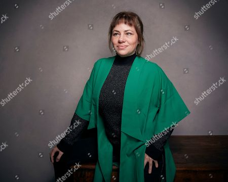 "Writer Karine Teles poses for a portrait to promote the film, ""Loveling"", at the Music Lodge during the Sundance Film Festival, in Park City, Utah"