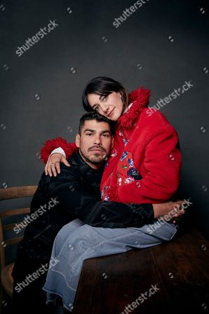 "Raul Castillo, Sheila Vand. Raul Castillo, left, and Sheila Vand pose for a portrait to promote the film, ""We The Animals"", at the Music Lodge during the Sundance Film Festival, in Park City, Utah"