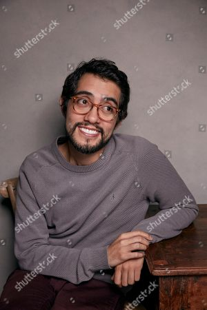 """Director Carlos Lopez Estrada poses for a portrait to promote the film, """"Blindspotting"""", at the Music Lodge during the Sundance Film Festival, in Park City, Utah"""
