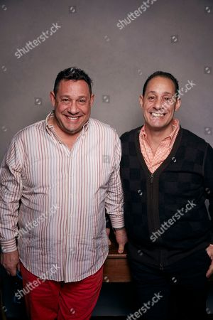 "David Kellman, Robert Shafran. David Kellman, left, and Robert Shafran pose for a portrait to promote the film, ""Three Identical Strangers"", at the Music Lodge during the Sundance Film Festival, in Park City, Utah"