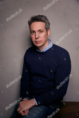 """Director Tim Wardle poses pose for a portrait to promote the film, """"Three Identical Strangers"""", at the Music Lodge during the Sundance Film Festival, in Park City, Utah"""