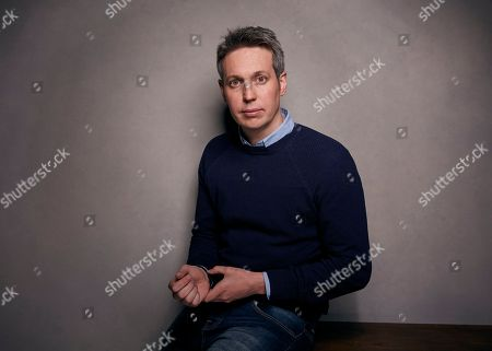 """Stock Photo of Director Tim Wardle poses pose for a portrait to promote the film, """"Three Identical Strangers"""", at the Music Lodge during the Sundance Film Festival, in Park City, Utah"""