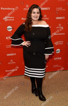 "Stock Photo of Isabella Amara, a cast member in ""The Tale,"" poses at the premiere of the film at the 2018 Sundance Film Festival, in Park City, Utah"
