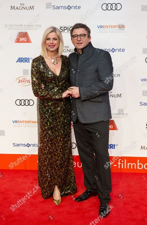 Hans Sigl and Susanne Kemmler arrive for the 45th German Film Ball at the Hotel Bayerischer Hof in Munich, Germany, 20 January 2018.