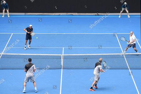 John McEnroe, Patrick McEnroe, Fabrice Santoro and Mansour Bahrami