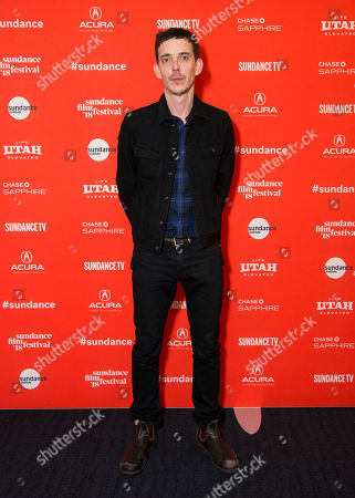 """Director/co-writer Jim Hosking poses during the premiere of """"An Evening With Beverly Luff Lin"""" at the Ray Theatre during the 2018 Sundance Film Festival, in Park City, Utah"""