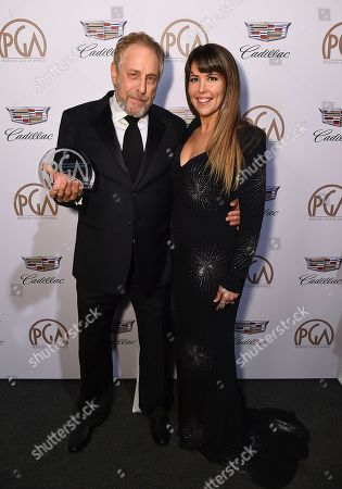 Charles Roven, Patty Jenkins. Charles Roven, recipient of the David O. Selznick achievement award in theatrical motion pictures, left, and Patty Jenkins at the 29th Producers Guild Awards presented by Cadillac at Beverly Hilton, in Beverly Hills, Calif