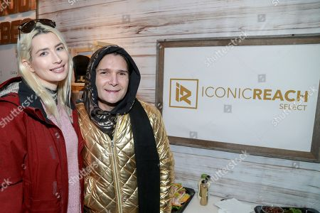 Corey Feldman and Courtney Anne Mitchell seen at The Music Lodge during the 2018 Sundance Film Festival on in Sundance