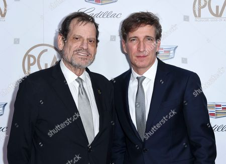 Howard Rosenman, Peter Spears. Howard Rosenman, left, and Peter Spears arrive at the 29th annual Producers Guild Awards at the Beverly Hilton, in Beverly Hills, Calif
