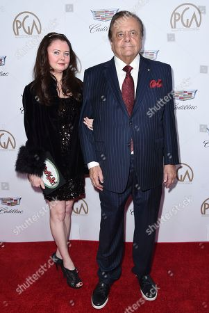 Stock Photo of Dee Dee Benkie, Paul Sorvino. Dee Dee Benkie, left, and Paul Sorvino arrive at the 29th annual Producers Guild Awards at the Beverly Hilton, in Beverly Hills, Calif