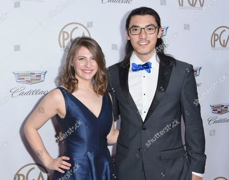 Larissa Rhodes, Jeff Orlowski. Larissa Rhodes, left, and Jeff Orlowski arrive at the 29th annual Producers Guild Awards at the Beverly Hilton, in Beverly Hills, Calif