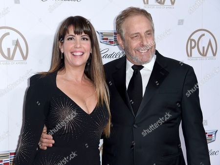 Patty Jenkins, Charles Roven. Patty Jenkins, left, and Charles Roven arrive at the 29th annual Producers Guild Awards at the Beverly Hilton, in Beverly Hills, Calif