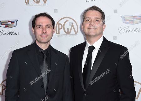 Alex Heffes, Stephen McDonagh. Alex Heffes, left, and Stephen McDonagh arrive at the 29th annual Producers Guild Awards at the Beverly Hilton, in Beverly Hills, Calif