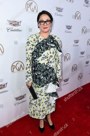 Ramsey Naito arrives at the 29th Producers Guild Awards presented by Cadillac at Beverly Hilton, in Beverly Hills, Calif