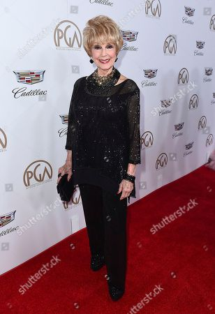 Karen Sharpe arrives at the 29th Producers Guild Awards presented by Cadillac at Beverly Hilton, in Beverly Hills, Calif