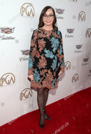 Kristie Macosko Krieger arrives at the 29th Producers Guild Awards presented by Cadillac at Beverly Hilton, in Beverly Hills, Calif