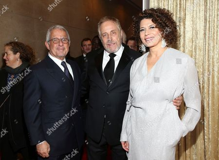 Ron Meyer, Charles Roven, Donna Langley. Ron Meyer, from left, Charles Roven, and Donna Langley arrive at the 29th Producers Guild Awards presented by Cadillac at Beverly Hilton, in Beverly Hills, Calif