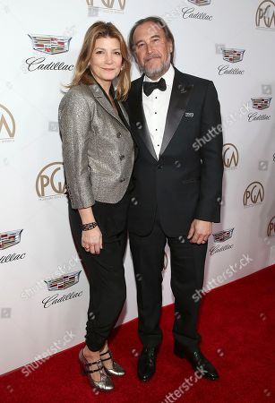 Annie Fitzgerald, Gregg Fienberg. Annie Fitzgerald, left, and Gregg Fienberg arrive at the 29th Producers Guild Awards presented by Cadillac at Beverly Hilton, in Beverly Hills, Calif
