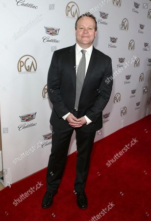 Chris Licht arrives at the 29th Producers Guild Awards presented by Cadillac at Beverly Hilton, in Beverly Hills, Calif