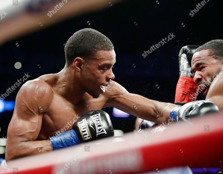 Errol Spence Jr., Lamont Peterson. Errol Spence Jr., left, fights Lamont Peterson during the third round of an IBF welterweight championship boxing match, in New York. Spence won in the eighth round