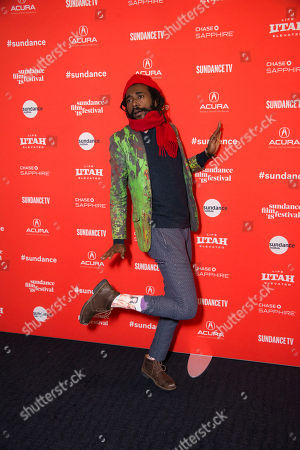 """Everaldo Creary poses during the premiere of """"Yardie"""" at the Ray Theatre during the 2018 Sundance Film Festival, in Park City, Utah"""