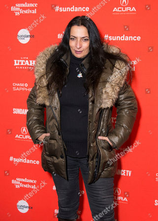 "Alice Amter poses during the premiere of ""Yardie"" at the Ray Theatre during the 2018 Sundance Film Festival, in Park City, Utah"