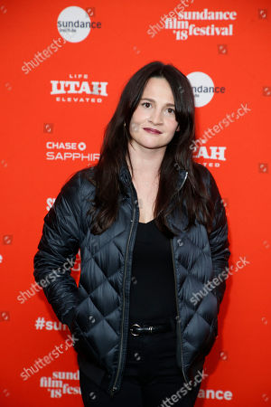 """Stock Picture of Producer Gigi Graff poses at the premiere of """"Tyrel"""" during the 2018 Sundance Film Festival, in Park City, Utah"""
