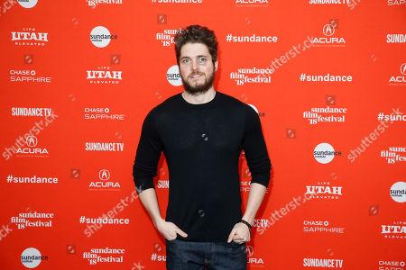 "Actor Philip Ettinger poses at the premiere of ""Tyrel"" during the 2018 Sundance Film Festival, in Park City, Utah"