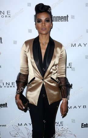 Mekia Cox arrives at the Entertainment Weekly Honors Nominees for the 24th Annual SAG Awards event at the Chateau Marmont Hotel, in Los Angeles