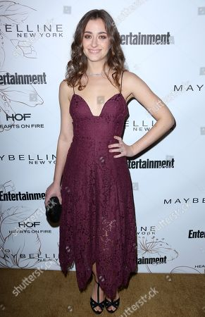 Holly Curran arrives at the Entertainment Weekly Honors Nominees for the 24th Annual SAG Awards event at the Chateau Marmont Hotel, in Los Angeles